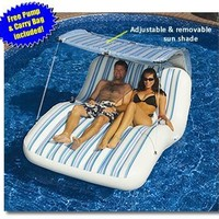 Luxury Cabana Extra Large Lounger is Ideal for the Beach, Pool, Lake and Land!:Amazon:Sports & Outdoors