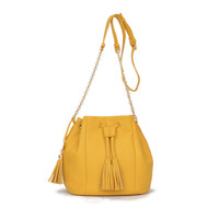 Cian Bucket Crossbody Yellow