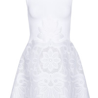 Antonio Berardi - Stretch-knit and guipure lace mini dress