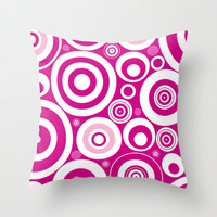 Circles Throw Pillow by Alice Gosling