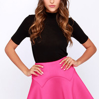 Lucca Couture Fire It Up Fuchsia Mini Skirt
