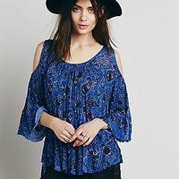 Free People Womens Chloe Printed Tee