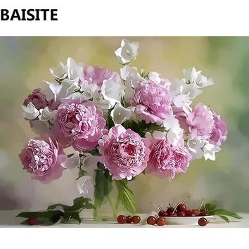 BAISITE Frameless DIY Oil Painting Pictures By Numbers On Canvas Wall Pictures Wall Art For Living Room Home Decoration c137
