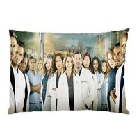 Fashion&Modern Grey's Anatomy Custom Pillowcase Rectangle Pillowcover Standard Size 20x30 inch (Two Sides)