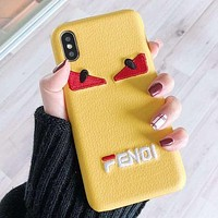 FENDI Fashion iPhone Phone Cover Case For iphone 6 6s 6plus 6s-plus 7 7plus 8 8plus iPhone X XR XS XS MAX