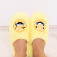 Total Softy Emoji Slippers - Cry Laughing