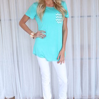 Chevron In My Pocket Top Mint