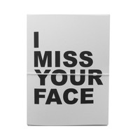 i miss your face note cards