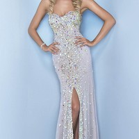 Beaded Long Gown by Splash by Landa Designs.