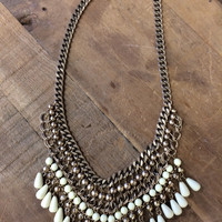 The Charmer Necklace ~ Cream