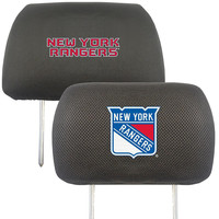 New York Rangers NHL Polyester Head Rest Cover (2 Pack)