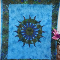 Sun Tapestry, Hippy Mandala Bohemian Tapestries, Indian Dorm Decor, Psychedelic Tapestry Wall Hanging Ethnic Decorative