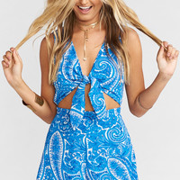 Nantucket Romper ~ Pacific Paisley Stretch