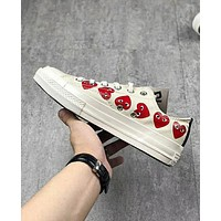 Converse Play Popular Loving Heart Personality Low Top Flat Spor Shoes Sneakers