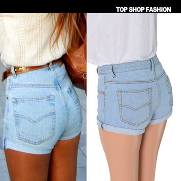 Sexy Women Girl Summer High Waist Ripped Hole Wash Denim Jeans Shorts Pants = 4721859716