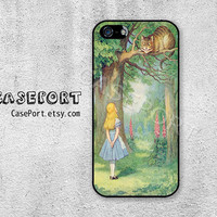 Alice Cheshire Cat iPhone 5 Case, iPhone 5 Cover, Case for iPhone 5, iPhone Hard Case