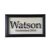 Personalized Picture Frame Sign, Established Family Sign, Family Name Sign, 23x13