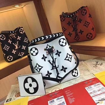 LV Louis Vuitton BEST QUALITY WOMEN'S MONOGRAM LEATHER NEONOE BUCKET SHOULDER BAG