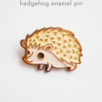Hedgehog Enamel Pin - Hedgehog Lapel Pin - Hedgehog Pin by boygirlparty
