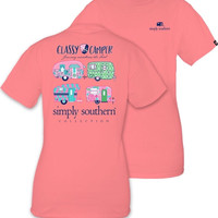 Simply Southern Classy Camper Tee - Strawberry