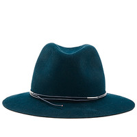 Hat Attack Avery Modern Hat in Teal & Teal Cord