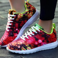 Fashion Chameleon Reflective Sneakers Sport Shoes Red