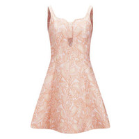 Opening Ceremony Women's Real Painted Leaves Bandeau Flare Dress - Blush Pink