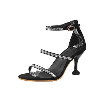 Women's Open Toe Buckle Stiletto Heel Sandals