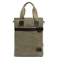 Vere Gloria Mens Fashion Canvas Shoulder Messenger Bag Crossbody IPad Bags for Work, College, School and Commuting