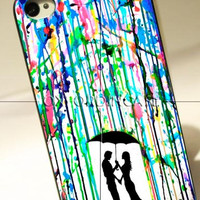 Love Song Romantic in The Rain Paint - for iPhone 4/4S case iPhone 5 case Samsung Galaxy S2/S3/S4 case hard case