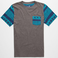 Blue Crown Tribal Lux Boys Pocket Tee Charcoal  In Sizes