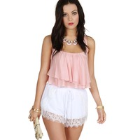 Sale-the All About Tonight Pink Crop Top