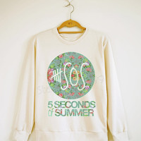 5 Seconds of Summer Shirt 5SOS Shirt Floral Shirt 5SOS Sweater Sweatshirt Jumpers Long Sleeve Women Shirt Men Shirt Unisex Shirt Size S,M,L