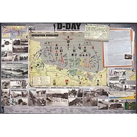 D-Day Normandy Invasion WWII History Poster 24x36
