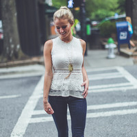 Vintage Lace Top in Cream