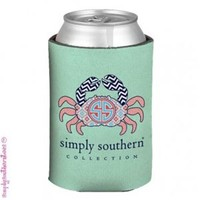 Simply Southern Preppy Koozies in Mint Crab