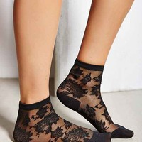 Patterned Sheer Ankle Sock-