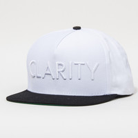 Clarity Snapback Hat in White