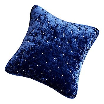 Tache Velvet Dreams Dark Blue Plush Diamond Tufted Euro Sham (JHW-853DB)