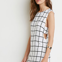 Grid Cutout Shift Dress
