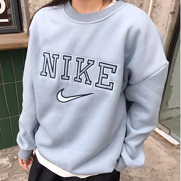 Nike new embroidered Plush crew neck sweater