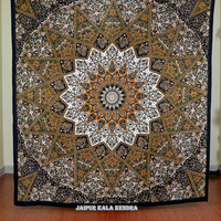 Mandala Tapestry Tapestries, Indian Tapestry, Hippie Tapestry, Indian Bedspread, Indian Wall Hanging Bohemian Tapestry, Mandala Dorm Decor