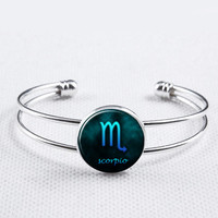 Zodiac Sign Bangle-Scorpio  Bracelet, Constellation  Jewelry,Astrology Bracelet, Astrology Jewelry, Astrological Jewelry, Zodiac Bracelet