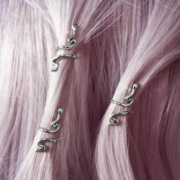 MARTHA. Snake Hair Twists - Silver – REGALROSE