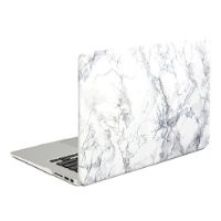 Air 13 MacBook Case, DEFAITH White Marble Pattern Rubber Coated Hard Shell Cover for MacBook Air 13.3 Model A1466 A1369 with Black Keyboard Skin Cover
