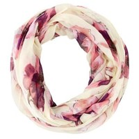 Floral Printed Infinity Scarf by Charlotte Russe - Ivory Combo