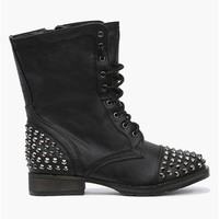 Rylie Studded Combat Boots - Black