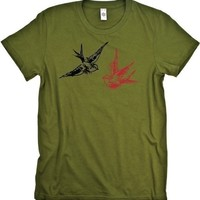 Love Birds Graphic Tee Shirt