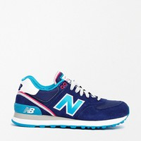 New Balance Navy/Aqua574 Stadium Jacket