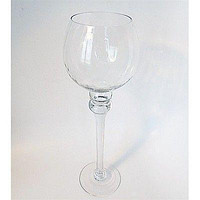 Goblet Glass Candle Holder Table Centerpiece, 14-Inch